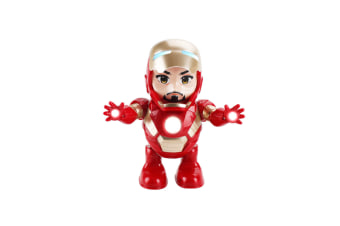 Avengers Iron Man Avengers Toys Dancing Robots Mini  Iron Man Light Electric Music Toy BF1028