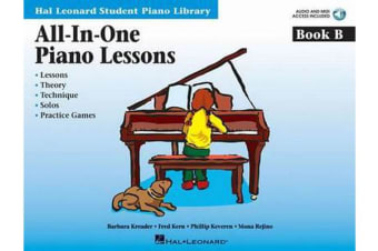 All-In-One Piano Lessons Book B - Book with Audio and MIDI Access Included