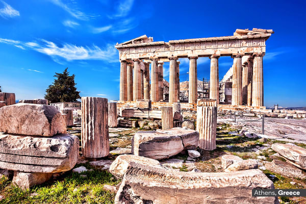 ITALY & GREECE: 21 Day Italy Tour and Greek Island Cruise Including Flights For Two (Inside Cabin)