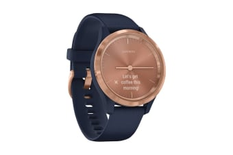 Garmin Vivomove 3S (Rose Gold Stainless Steel Bezel with Navy Case and Silicone Band)