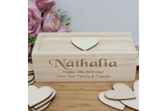 18th Wooden Guest Book Message Box