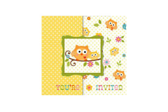Creative Converting Happi Tree Party Invitations (Pack of 8) (Multicoloured) (One Size)