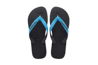 Havaianas Top Mix Thongs (Grey/Turquoise, Size 43/44 BR)