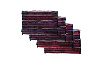 Set of 4 Chindi Woven Entrance Floor Mats 60 x 90 cm