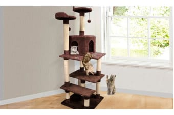 Cat Scratching Post Tree 1.7m Brown