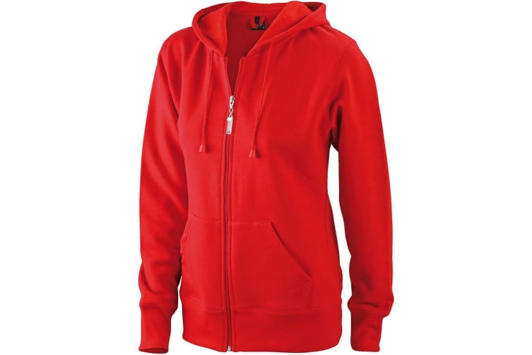 James and Nicholson Womens/Ladies Hooded Jacket (Red) (XXL)