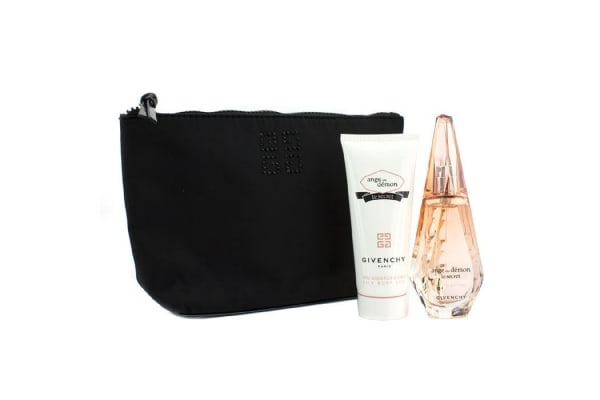 Givenchy Ange Ou Demon Le Secret Coffret: Eau De Parfum Spray 50ml/1.7oz + Body Veil 100ml/3.3oz + Pouch (2pcs+1pouch)