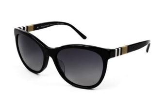 Burberry BE4199 58mm - Black (Grey Shaded Polarised lens) Womens Sunglasses
