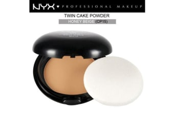 Nyx Twin Cake Powder Face Powder #Cp15 Honey Beige Medium Dark Skin Tone