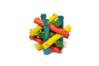 Interpet Limited Superpet Nut Knot Knibbler Wooden Toy (Multicoloured)