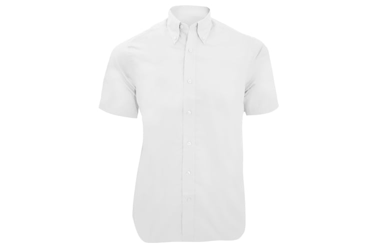 Kustom Kit Mens City Short Sleeve Business Shirt (White) (19inch)