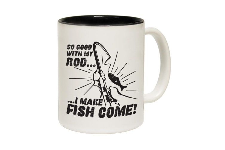 123T Funny Mugs - Dw So Good With My Rod - Black Coffee Cup