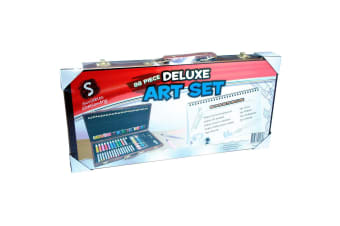 88 Piece Deluxe Art Set in Wooden Carry Case