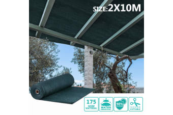 OGL Sun Shade Cloth UV Blocking - 2x10m Dark Green 175GSM
