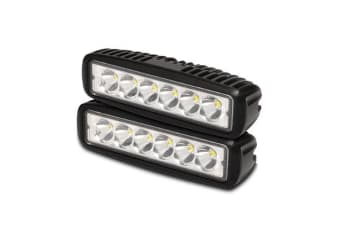 2x 6 inch 18W LED Work Light Bar Driving Lamp