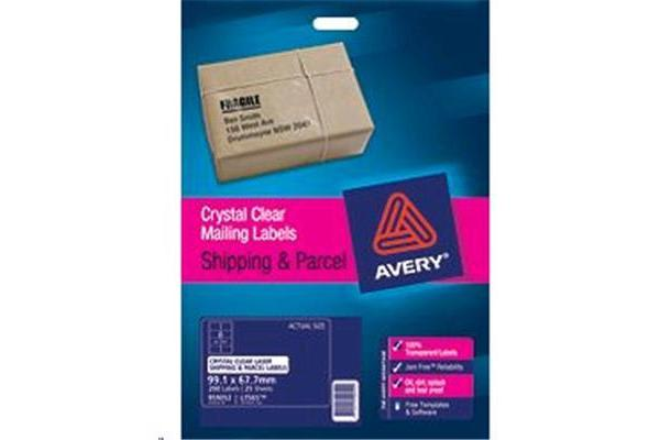 AVERY CLEAR LABEL L7565-25 25 SHEETS