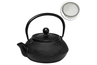 Avanti Hobnail Design Cast Iron Teapot 800ml Tea Coffee Kettle Pot w Tea Infuser
