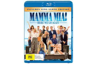 Mamma Mia Here We Go Again with Digital Download Blu-ray Region B