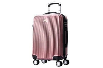 "Swissgear 20"" Luggage Suitcase Hard Shell Tsa Locks Rose Gold"