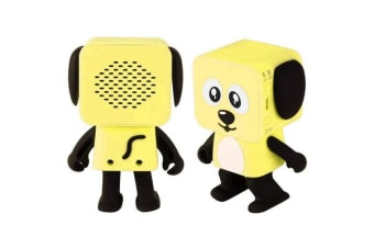 TODO Bluetooth V4.1 Dancing Robot Dog Speaker Portable Rechargeable - Yellow