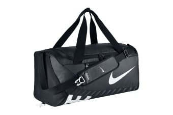 Nike Alpha Adapt Crossbody Medium Duffel Bag (Black/Black/White)