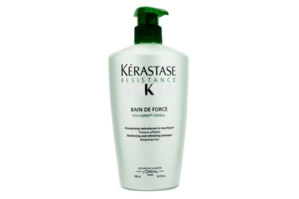 Kerastase Resistance Bain De Force Reinforcing And Refinishing Shampoo (Weakened Hair) (500ml/16.9oz)