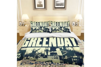 3D Rock Band Green Day Quilt Cover Set Bedding Set Pillowcases 47