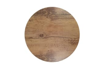 Chef Inox Round Wood Effect Melamine Oak 31cm