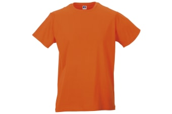 Russell Mens Slim Short Sleeve T-Shirt (Orange) (XL)