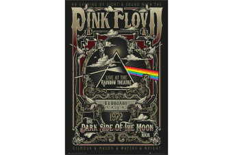 Pink Floyd Rainbow Theatre Poster (Black) (One Size)