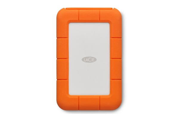 LaCie Rugged Drop Resistant 2TB USB-C Hard Drive