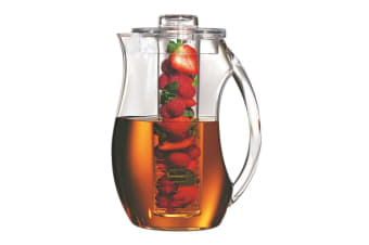 Serroni Fresco 2.8L Fruit Infusion Pitcher Glass Juice Water Container Jug Clear