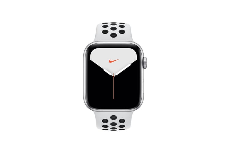 Apple Watch Nike+ Series 5 (Silver Aluminum, 44mm, Pure Platinum/Black Nike Sport Band, Cellular)