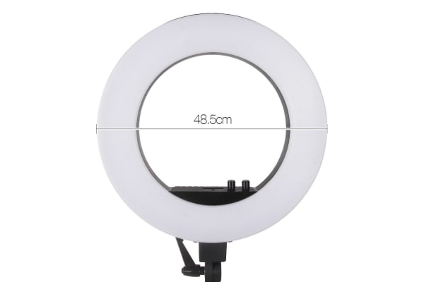 5800 Lumens Ring Light with Stand (Black)