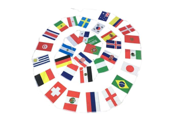 Football 32 World Flags Bunting 9.9m (Multicoloured) (W9.9m)