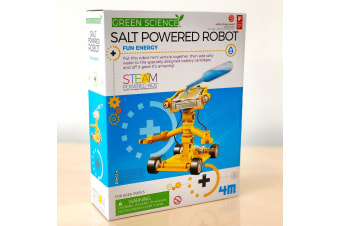 Salt Water Powered Robot | 4M Kids Labs science diy kit robotic toy car eco friendly