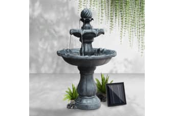 Solar Water Fountain Pump Garden Bird Bath Outdoor Feature  Black