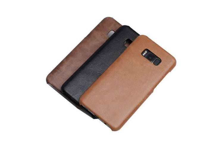 For Samsung Galaxy S8 Case Modern Genuine Durable Shielding Leather Cover Coffee