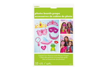 Unique Party Princess Photo Booth Props (Pack Of 10) (Multicoloured) (One Size)