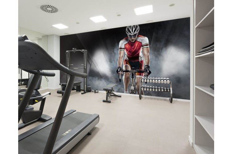 3D Cycling 079 Wall Murals Self-adhesive Vinyl, XL 208cm x 146cm (WxH)(82''x58'')