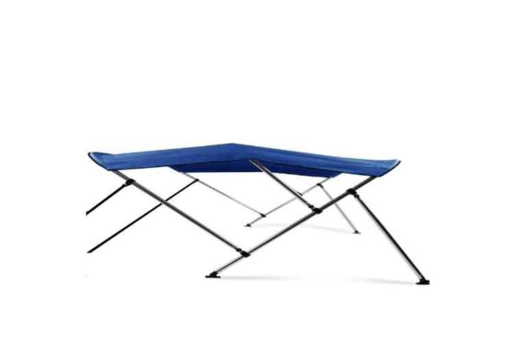 Kaiser Boating Low Profile 3 Bow 1.7-1.9m Bimini Top Boat Canopy - 85cm height - 180cm length - Blue - Complete kit includes Aluminium Frame + 600D Oxford Polyester Cover + Rear Poles + Sock