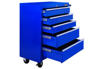 5 Drawers Roller Toolbox Cabinet (Blue)