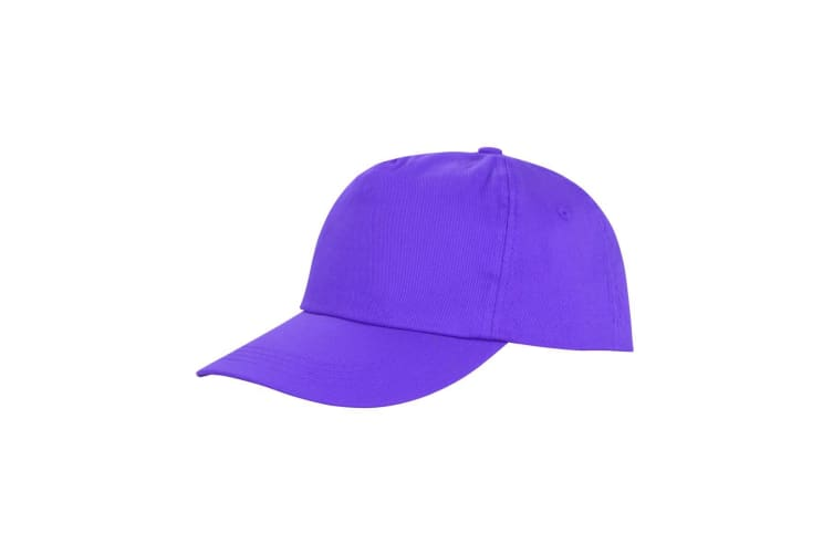 Result Unisex Core Houston 5 Panel Printers Baseball Cap (Pack of 2) (Purple) (One Size)