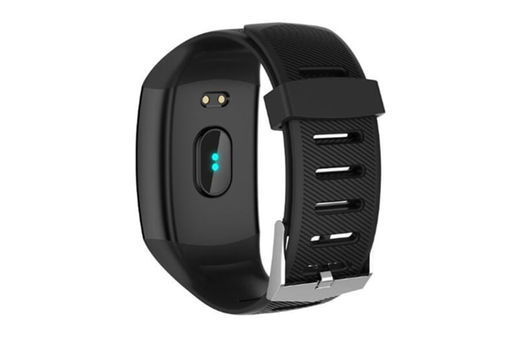 WJS 1.3inch Color Screen Blood Pressure Heart Rate Monitor Sport bluetooth Smart Wristband Watch-BLACK