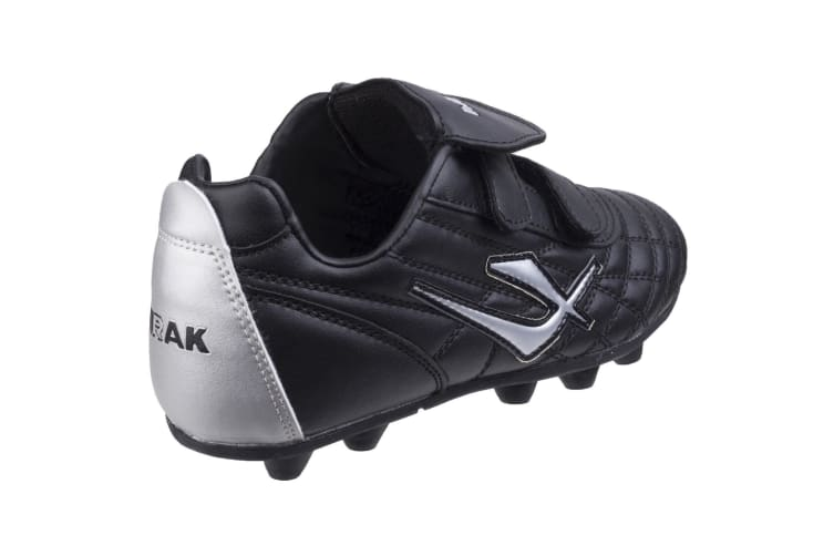Mirak Forward Moulded / Boys Boots / Football/Rugby Boots (Black/Silver) (1 UK)