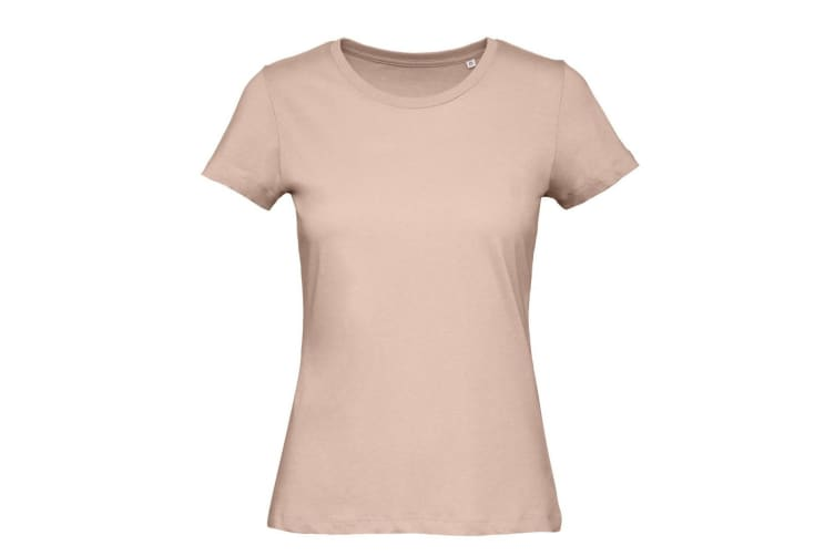 B&C Womens/Ladies Favourite Organic Cotton Crew T-Shirt (Millennial Pink) (M)