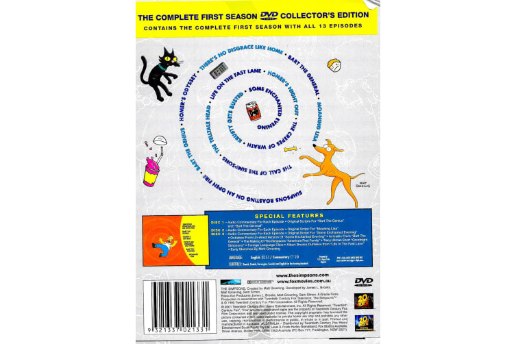 The Simpsons The Complete First Season Collector's Edition - Series Preowned DVD: DISC LIKE NEW