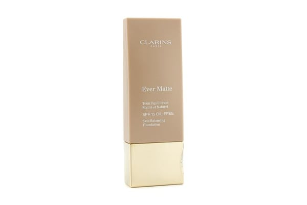 Clarins Ever Matte Skin Balancing Oil Free Foundation SPF 15 - # 112 Amber (30ml/1.1oz)