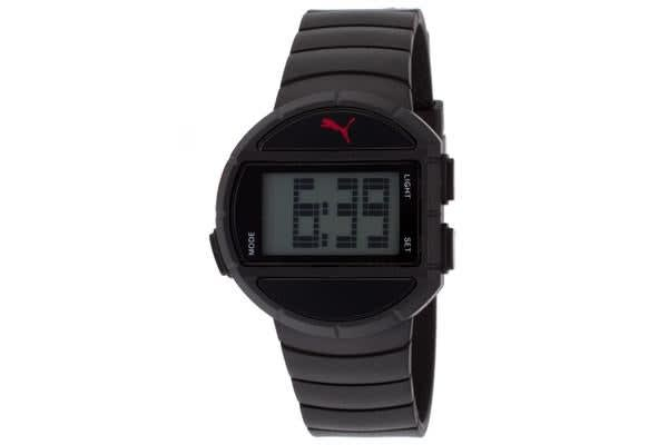 Puma Women's Half-Time Digital Multi-Function Gray Dial Black Rubber (PUMA-PU910892004)