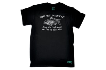 Drowning Worms Fishing Tee - Fish Are Like Boobs Mens T-Shirt